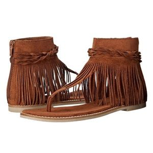 Coconuts by Matisse Fringe Brown Sandals